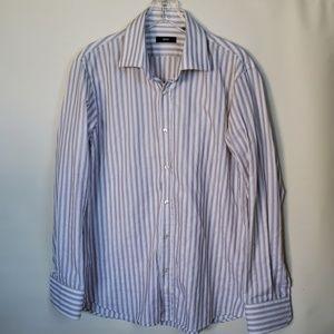 BOSS dress striped mens shirt 16.5